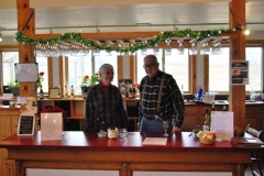 Darlene and Bill Kvaternik at the Tasting Bar