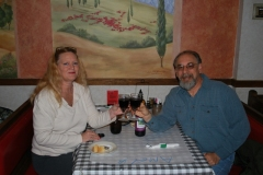 Brenda and I at The Italian Oven