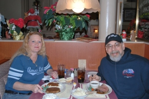 Brenda and I at The Brownstone Cafe