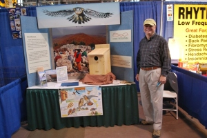 Hawk Mountain Volunteer Lyle Russell at the Farm Show